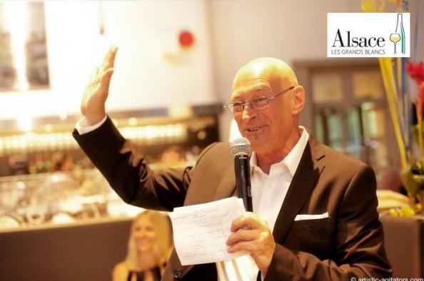 Nick Hamilton, sommelier-animateur des soirées Alsace au Menu